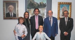 José María Riol junto a su familia, Ignacio Moreno Aparicio y Pedro María Roldán Conesa