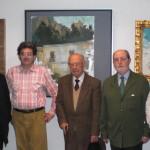 D. Enrique Wulf junto a Ignacio Moreno (Presidente del Ateneo) y varios ateneístas
