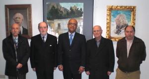 Claudio Cano junto a Ignacio Moreno (Presidente del Ateneo) y varios ateneístas