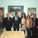 José Manuel Trinidad junto a Ignacio Moreno (Presidente del Ateneo) y varios ateneístas