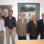 Emilio Medina Reborio junto a varios ateneistas