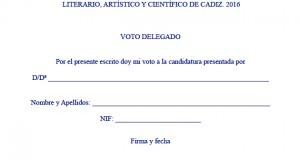 Voto delegado ATENEO